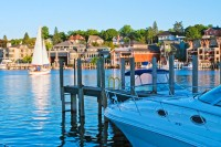 Bridge Street, Charlevoix, Round Lake, harbor, marina, yachts, sailboats, photography, Mike Barton