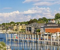 Bridge Street, Charlevoix, Round Lake, harbor, marina, yachts, sailboat, photography, fine art prints, Mike Barton