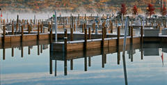 Boyne City,  Marina,  Autumn, docks, photograph, prints, Mike Barton