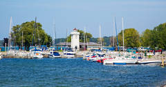 Boyne City, marina, shore, Lake Charlevoix, Lake Michigan, photograph, prints, Mike Barton