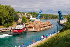 Tugboat, drawbridge, Charlevoix, Lake Charlevoix, photography, fine art prints, Mike Barton