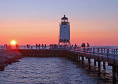 Great lake, Charlevoix, lighthouse, south pier, sunsets, fine art prints, photography, Mike Barton