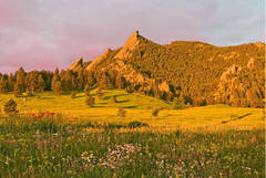 Flatirons, Mountains, Chautauqua Park, Boulder, Colorado Music Festival, photography, fine art prints, Mike Barton