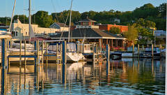 Stafford's Pier Restaurant, harbor, boathouse, Pointer Boat, Harbor Springs, Michigan, photography, prints, Mike Barton