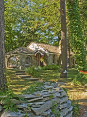 Cottages, Earl Young, Charlevoix, Michigan, mushroom houses, Half House, photograph, prints, Mike Barton