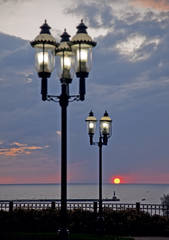Gaslight, Petoskey, Michigan, photography, prints, Mike Barton, Little Traverse Bay