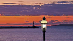 Petoskey, Michigan, photography, prints, Mike Barton, Little Traverse Bay, Gaslight