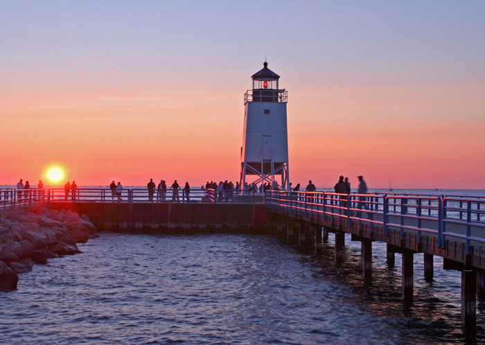 Great lake, Charlevoix, lighthouse, south pier, sunsets, fine art prints, photography, Mike Barton, photo