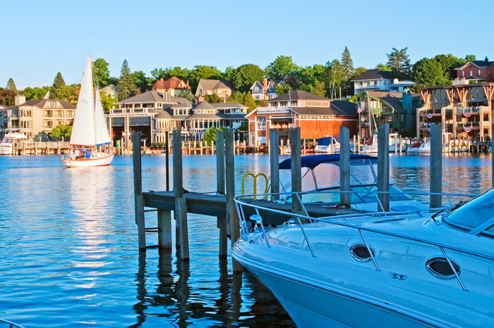 Bridge Street, Charlevoix, Round Lake, harbor, marina, yachts, sailboats, photography, Mike Barton , photo