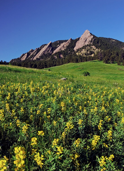 Flatirons, Mountains, Chautauqua Park, Boulder, Colorado Music Festival, photography, fine art prints, Mike Barton,, photo