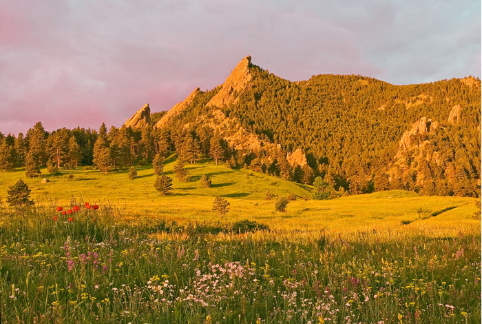 Flatirons, Mountains, Chautauqua Park, Boulder, Colorado Music Festival, photography, fine art prints, Mike Barton, photo