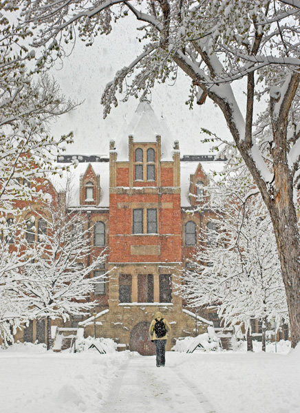 Hale Science Building Snow Cu Boulder Campus Mike