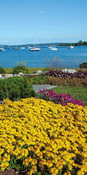 This photo is taken along the Harbor Springs waterfront