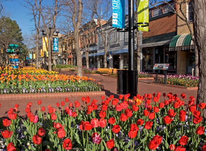 Pearl Street Mall, Boulder's, Colorado, photography, fine art prints, Mike Barton, photo