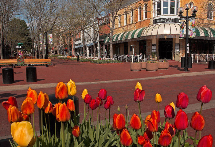 Pearl Street Mall, Boulder's, Colorado, photography, fine art prints, Mike Barton, boulder cafe, photo