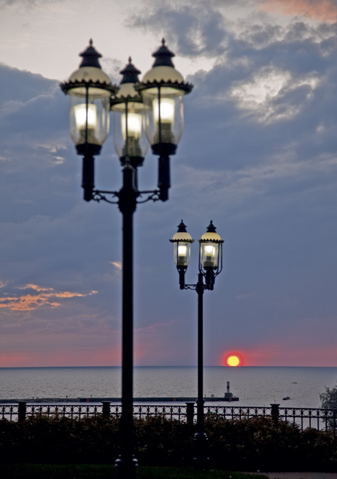 Gaslight, Petoskey, Michigan, photography, prints, Mike Barton, Little Traverse Bay, photo