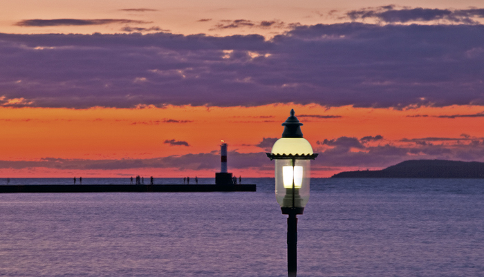 Petoskey, Michigan, photography, prints, Mike Barton, Little Traverse Bay, Gaslight, photo