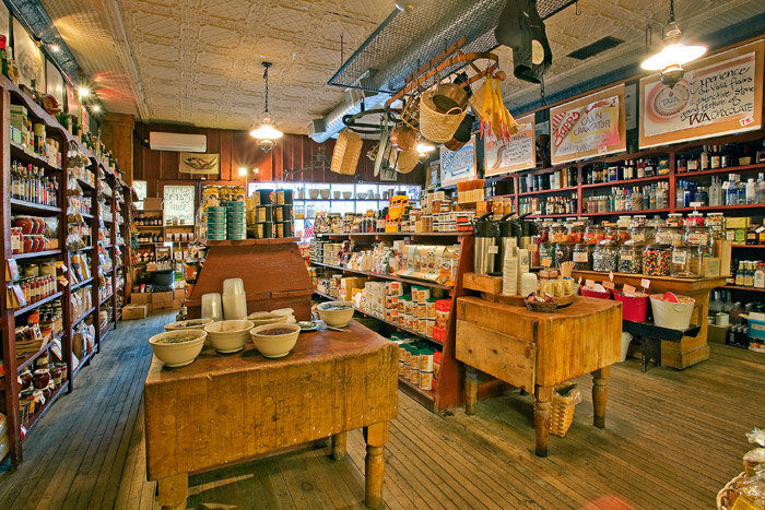 With an old creaky wooden floor and tin ceiling, Symons General Store is a step back into the past.