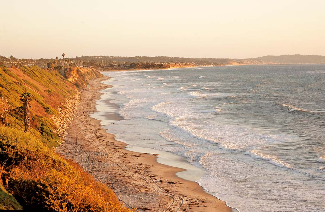 The view from the San Elijo State Beach Campground in Cardiff-by-the-Sea looking south to Solana Beach and Del Mar.