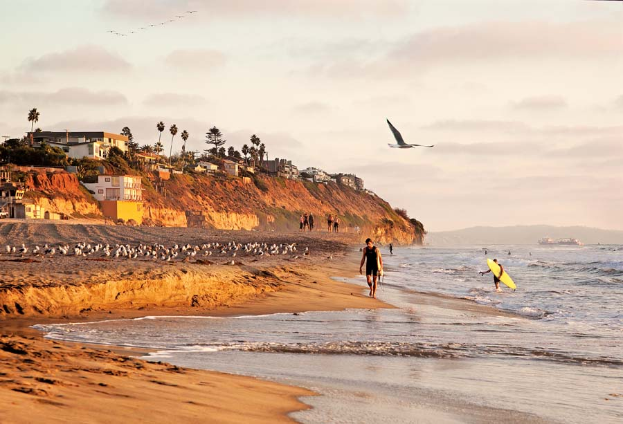 Encinitas, surfers, photo